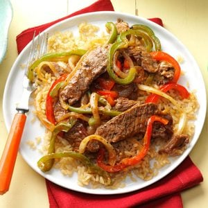 BBQ Beef & Vegetable Stir-Fry