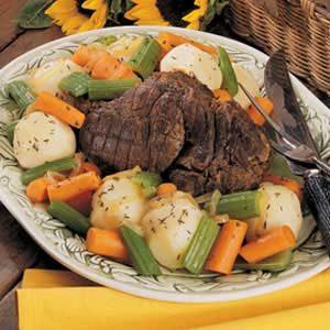 Venison Pot Roast with Vegetables