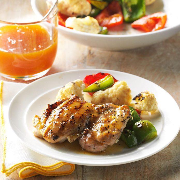 Grilled Orange Chicken Thighs