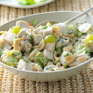 Turkey Salad with Grapes & Cashews