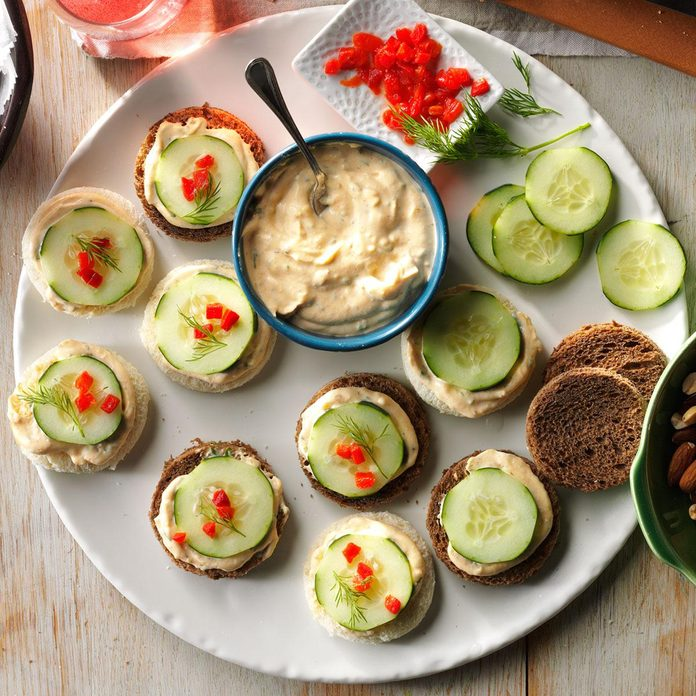 Massachusetts: Cucumber Canapes