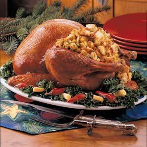 Two-Bread Stuffed Turkey