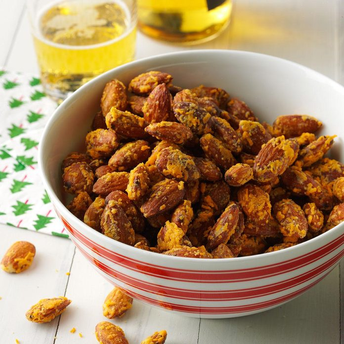 Roasted Cheddar Herb Almonds