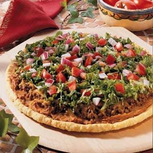 Refried Bean Pizza