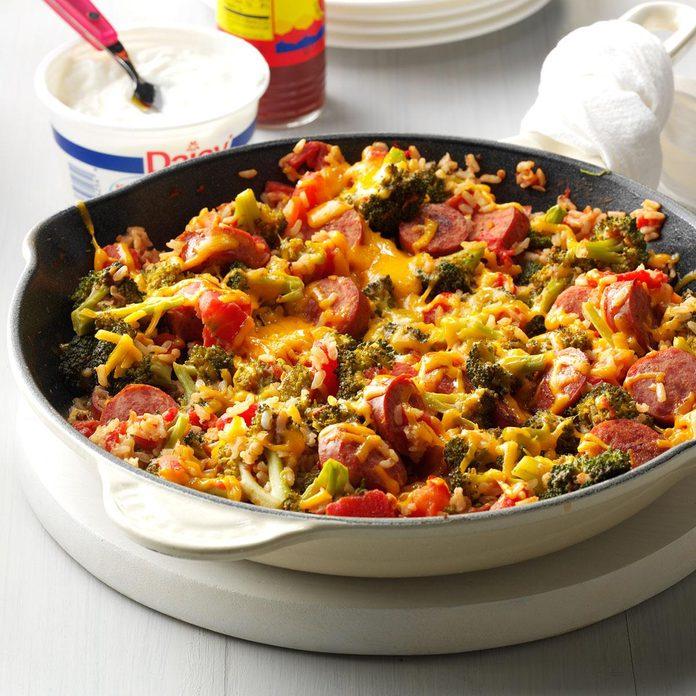 Broccoli, Rice and Sausage Dinner