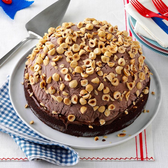 Hazelnut Brownie Bombe