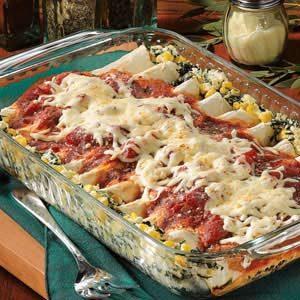 Spinach Cheese Enchiladas