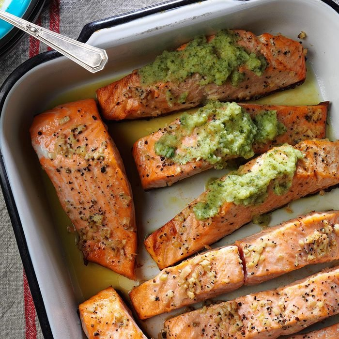 Ginger Salmon with Cucumber Lime Sauce