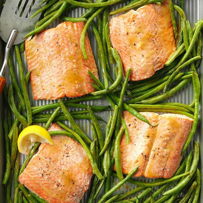 April: Sweet & Tangy Salmon with Green Beans