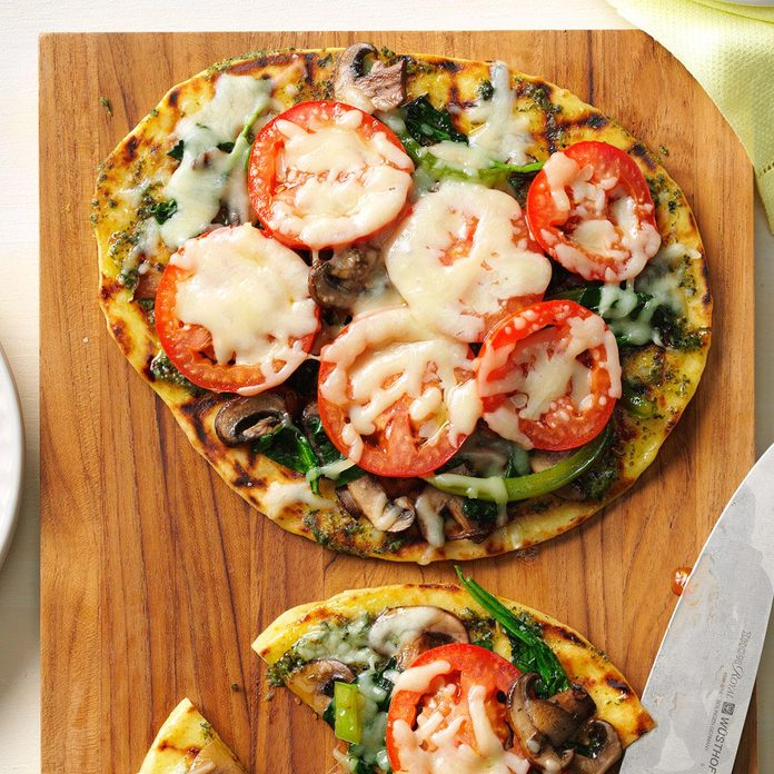 Grilled Flatbread Veggie Pizza