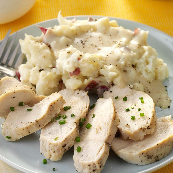 Chicken, Smashed Potatoes & Gravy