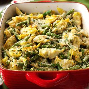 Italian Artichoke-Green Bean Casserole