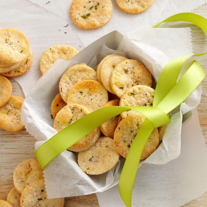 Thyme-Sea Salt Crackers