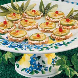 Olive-Cucumber Finger Sandwiches