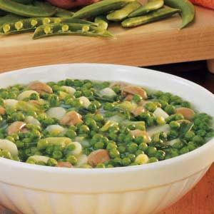 Gingered Peas and Water Chestnuts