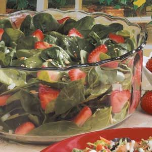 Sunflower Strawberry Spinach Salad