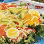 Citrusy Avocado Crab Salad
