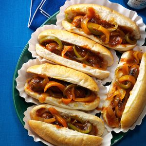 Barbecue Brats & Peppers