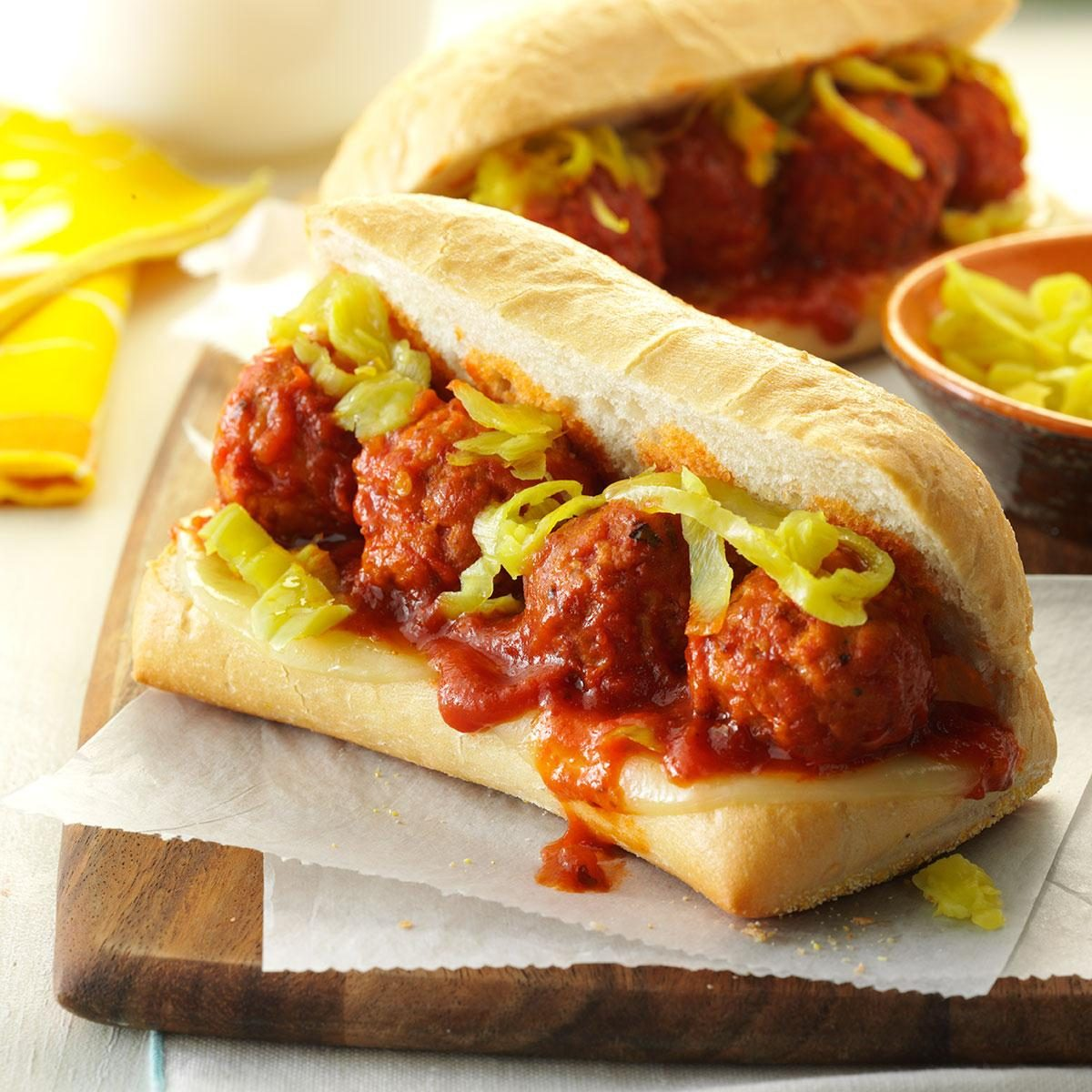 Friday: Slow-Cooker Meatball Sandwiches