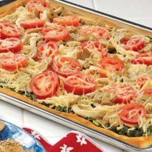Chicken-Pesto Pan Pizza