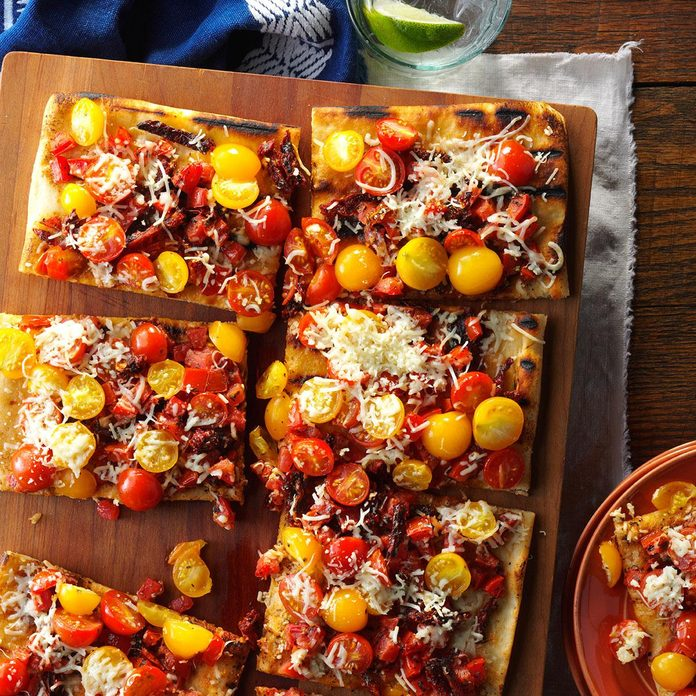 Day 20: Triple Tomato Flatbread