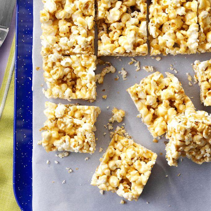 Peanut Butter Popcorn Bars