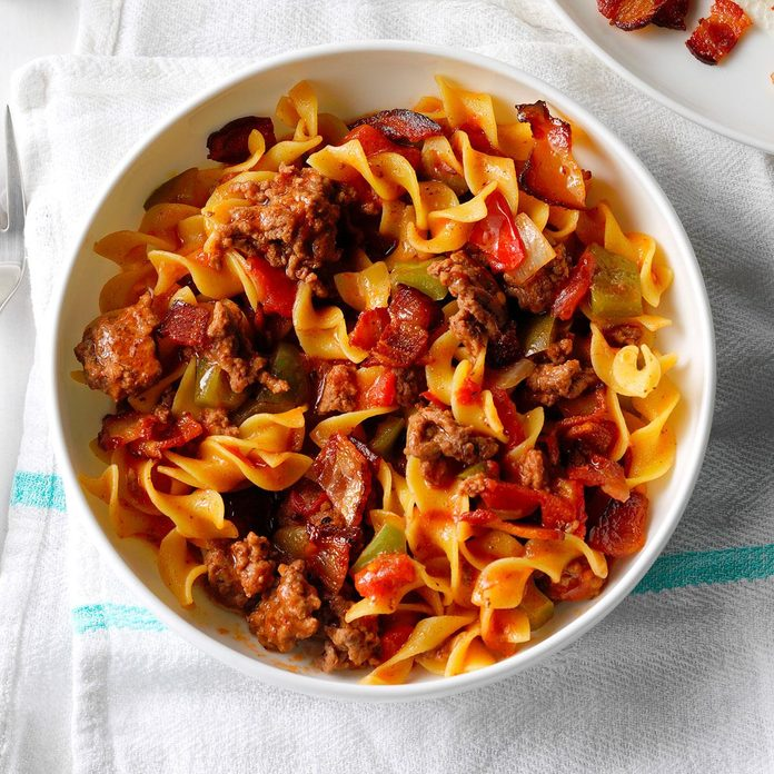 Spanish Noodles & Ground Beef