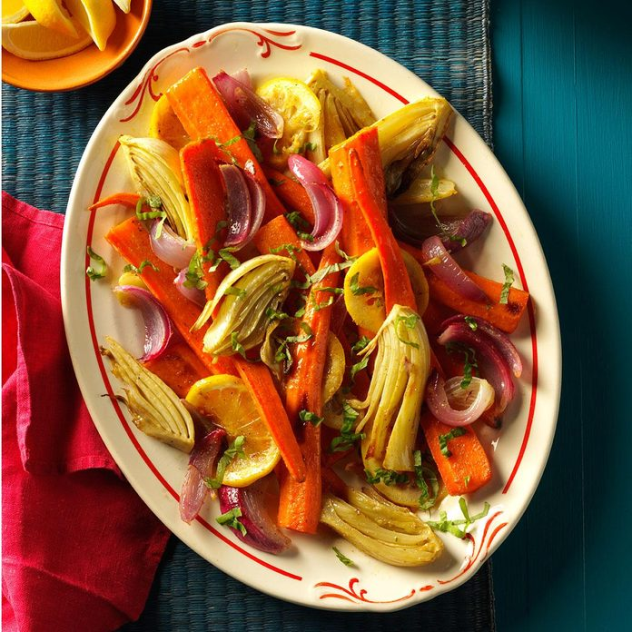 Roasted Carrots & Fennel
