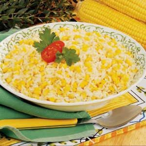 Roasted Corn and Garlic Rice for Two