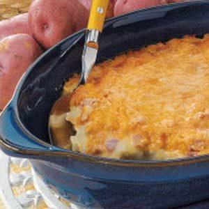 Ham N Cheese Mashed Potatoes