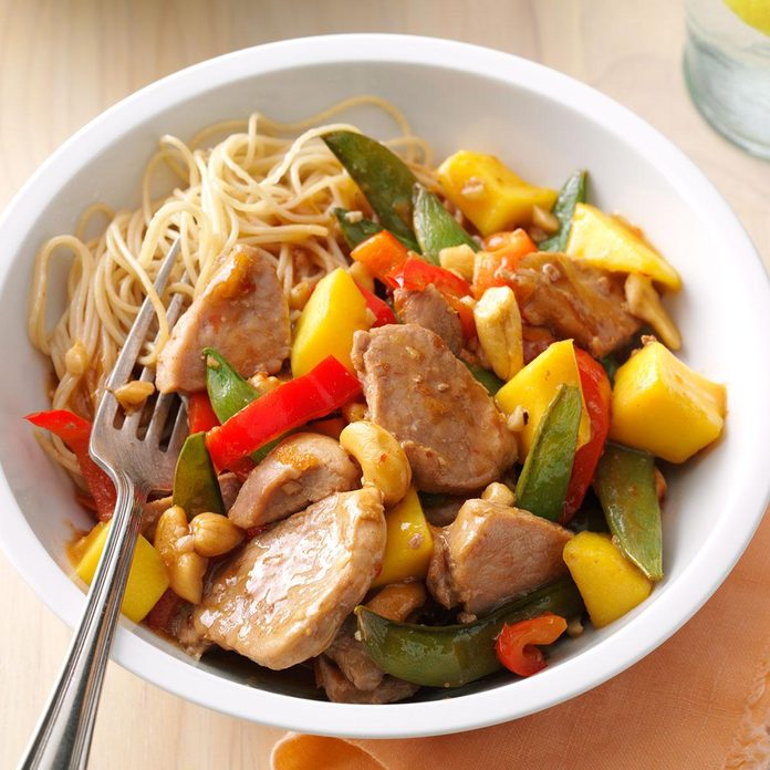 Day 27: Pork & Mango Stir-Fry