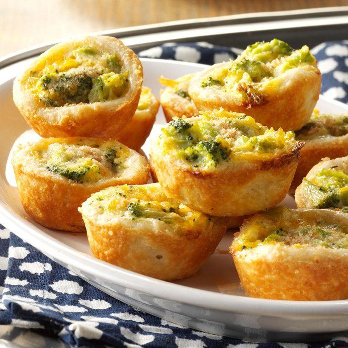 Broccoli-Cheddar Tassies