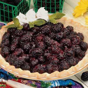 Glazed Blackberry Pie