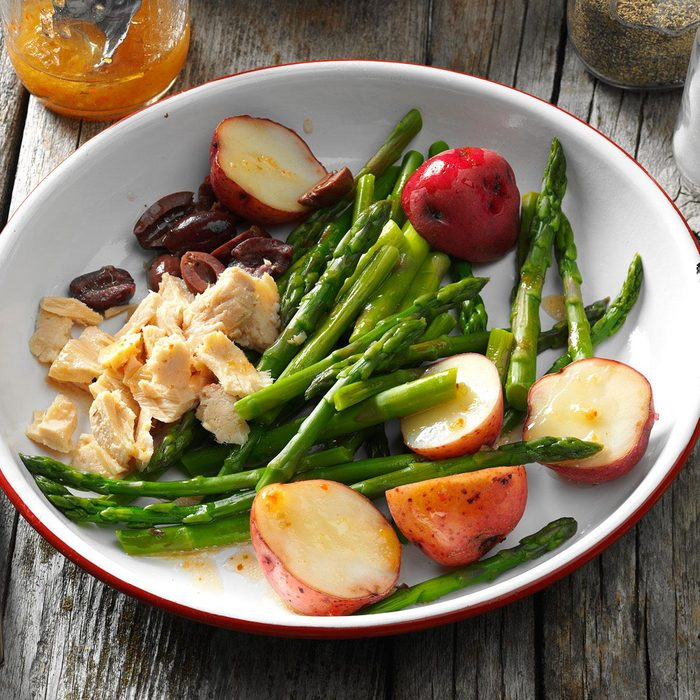 Day 1 Lunch: Asparagus Nicoise Salad
