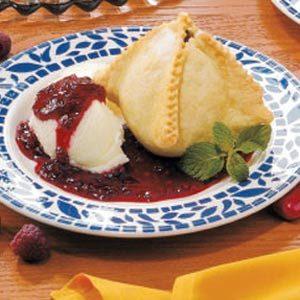 Pear Melba Dumplings