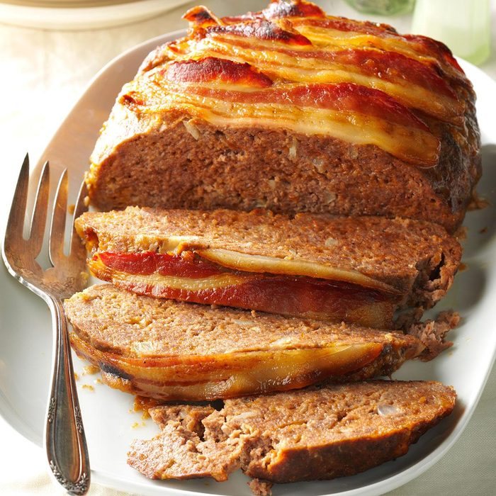Bacon-Topped Meat Loaf