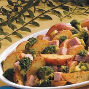 Garlic Potatoes and Ham