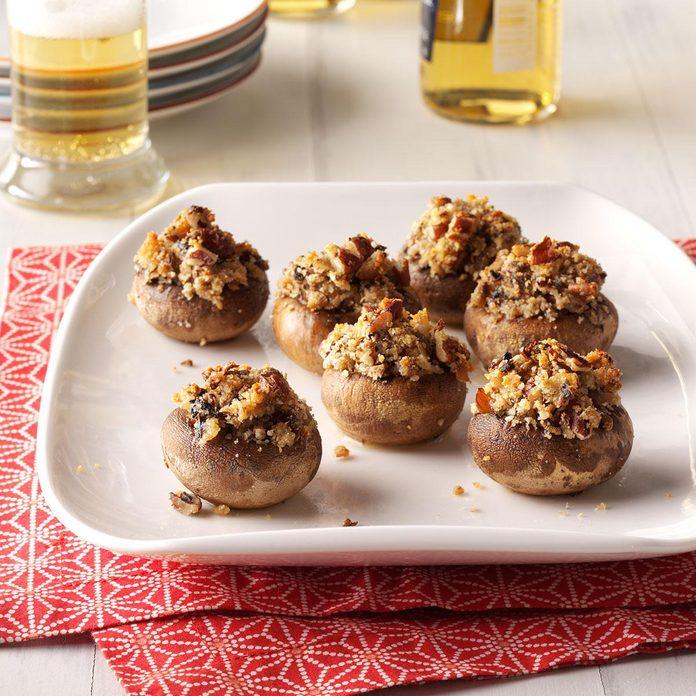 Nutty Stuffed Mushrooms