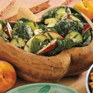 Apple Mint Spinach Salad
