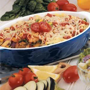 Roasted Vegetable Ziti Bake