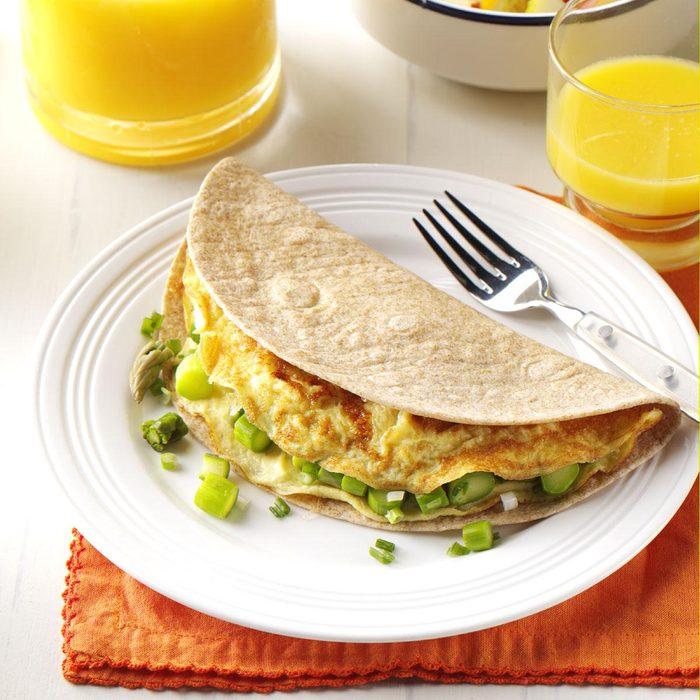 Asparagus Omelet Tortilla Wrap