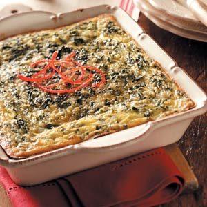 Green 'n' Gold Egg Bake