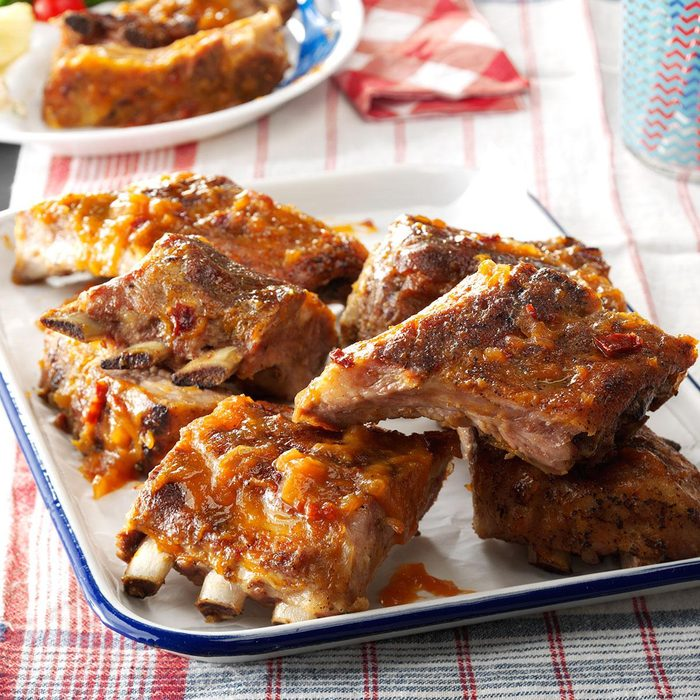 Day 8: Peach-Chipotle Baby Back Ribs