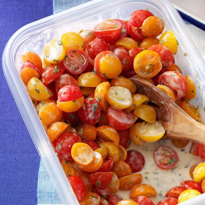 Tomatoes with Buttermilk Vinaigrette