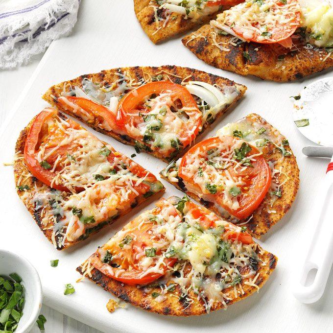 Grilled Garden Veggie Flatbreads