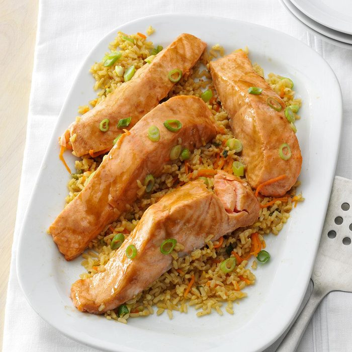 Ginger Salmon with Brown Rice