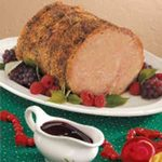 Roast Pork with Raspberry Sauce
