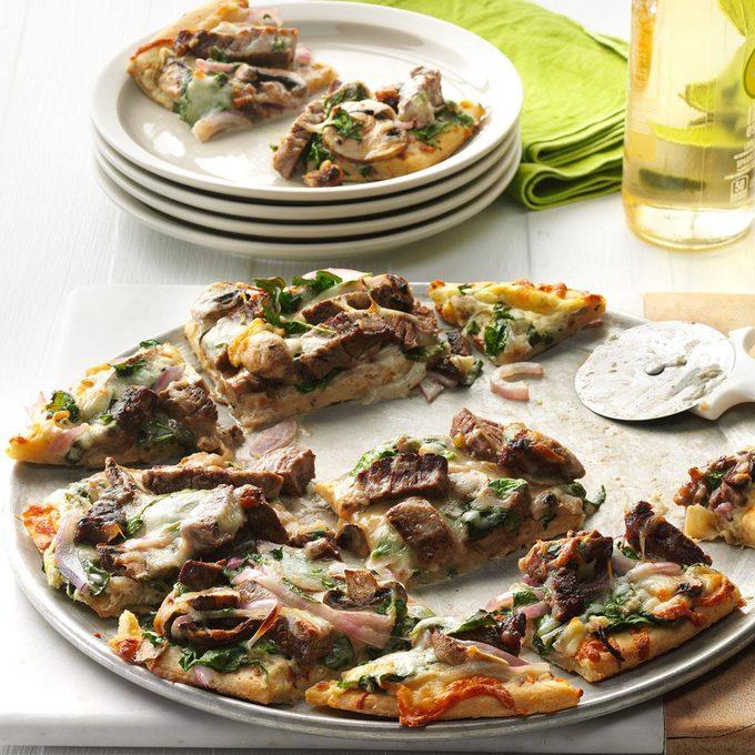 Garlic & Herb Steak Pizza