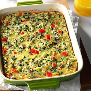 Crab-Spinach Egg Casserole