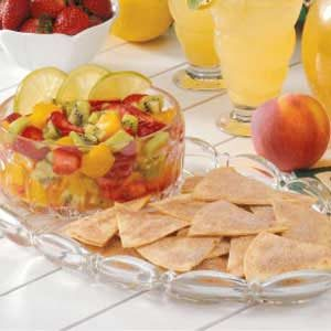 Tangy Fruit Salsa with Cinnamon Chips
